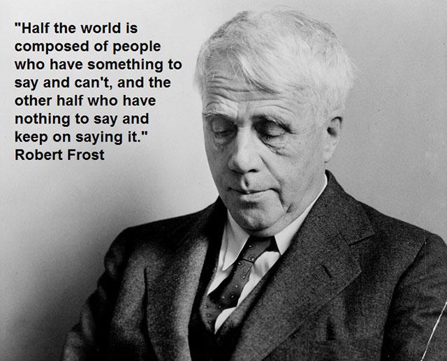 Robert Frost, poet, writer